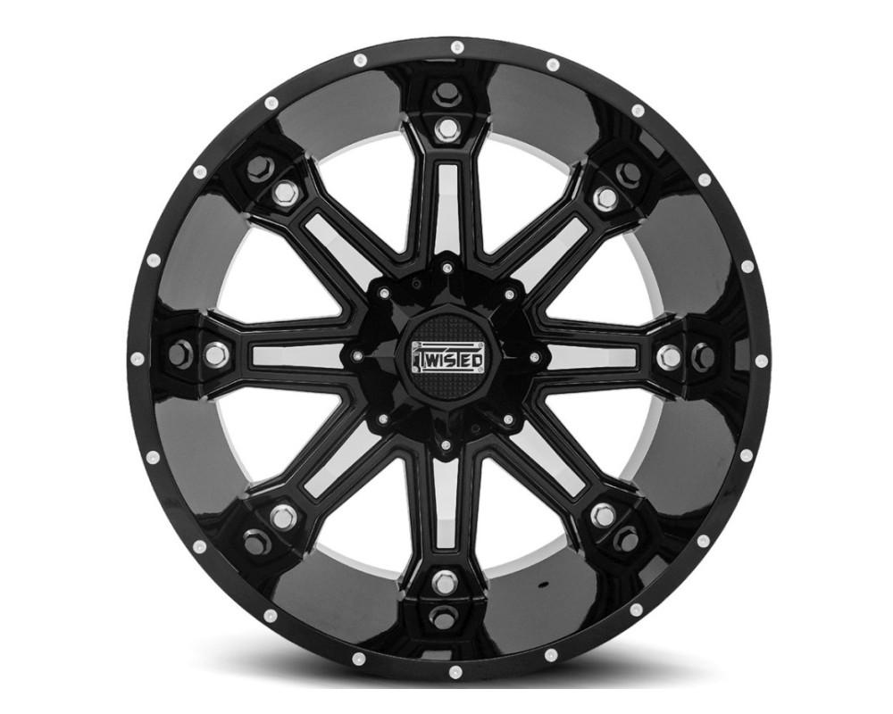 Twisted Off-Road T-23201251397150-44GBM T-23 Wraith Wheel 20x12 5x139.7|5x150 -44mm Black Machined