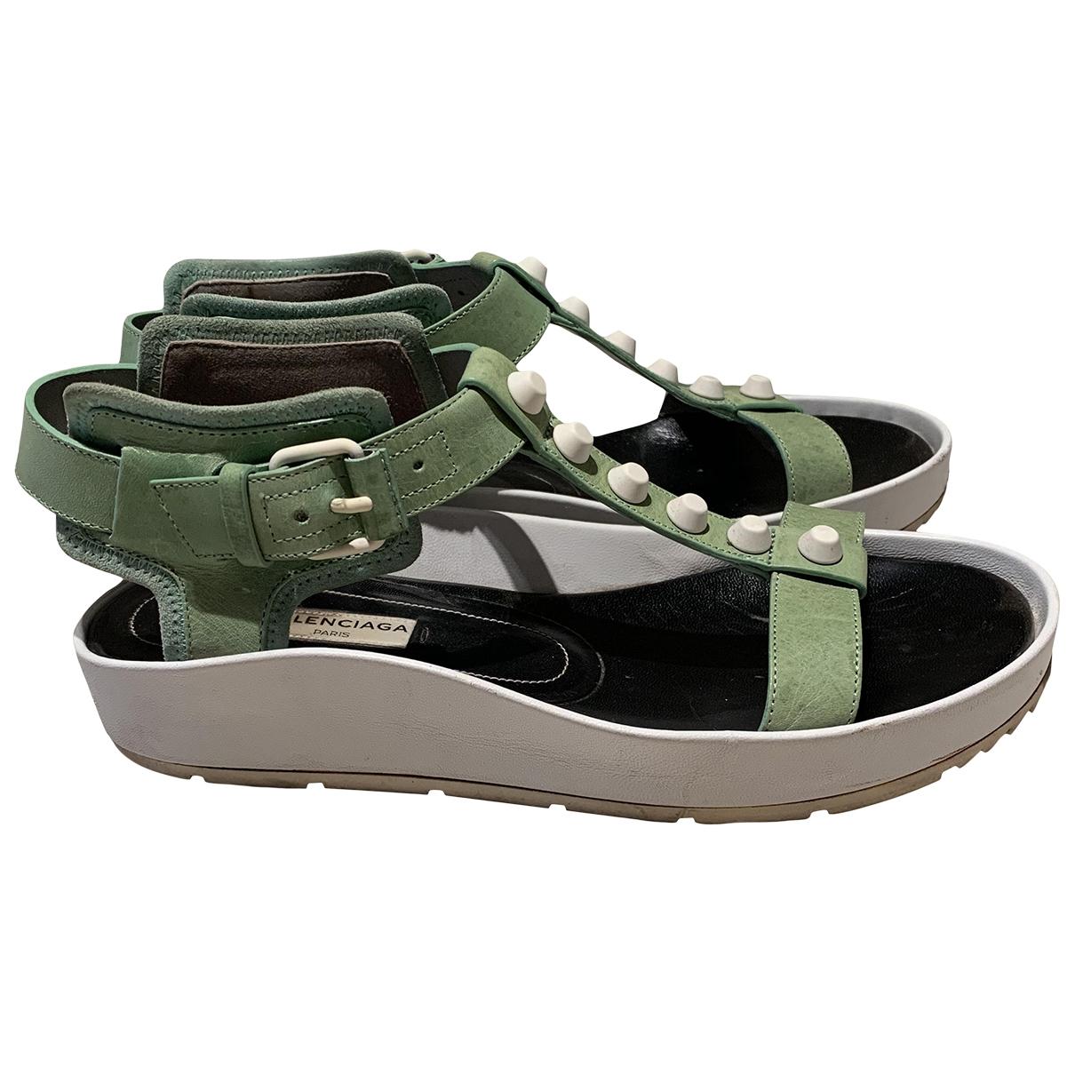 Balenciaga - Sandales   pour femme en cuir - vert