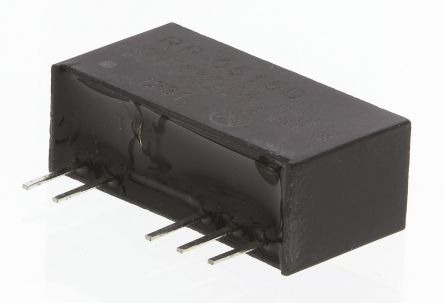Recom RP 1W Isolated DC-DC Converter Through Hole, Voltage in 4.5 → 5.5 V dc, Voltage out ±15V dc