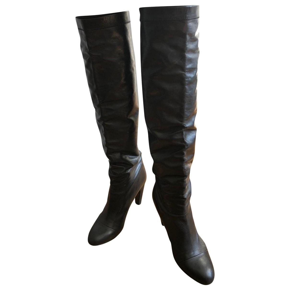 Marc Jacobs \N Stiefel in  Schwarz Leder