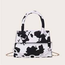 Cow Print Satchel Bag