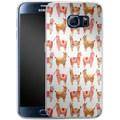 Samsung Galaxy S6 Silikon Handyhuelle - Alpacas von Cat Coquillette