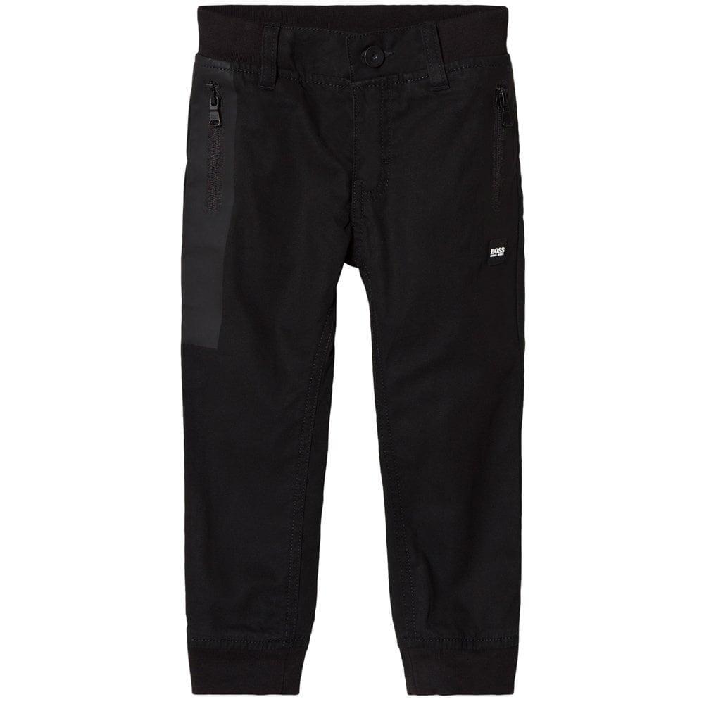 Hugo Boss Kids Cargo Trousers Black  Colour: BLACK, Size: 16 YEARS