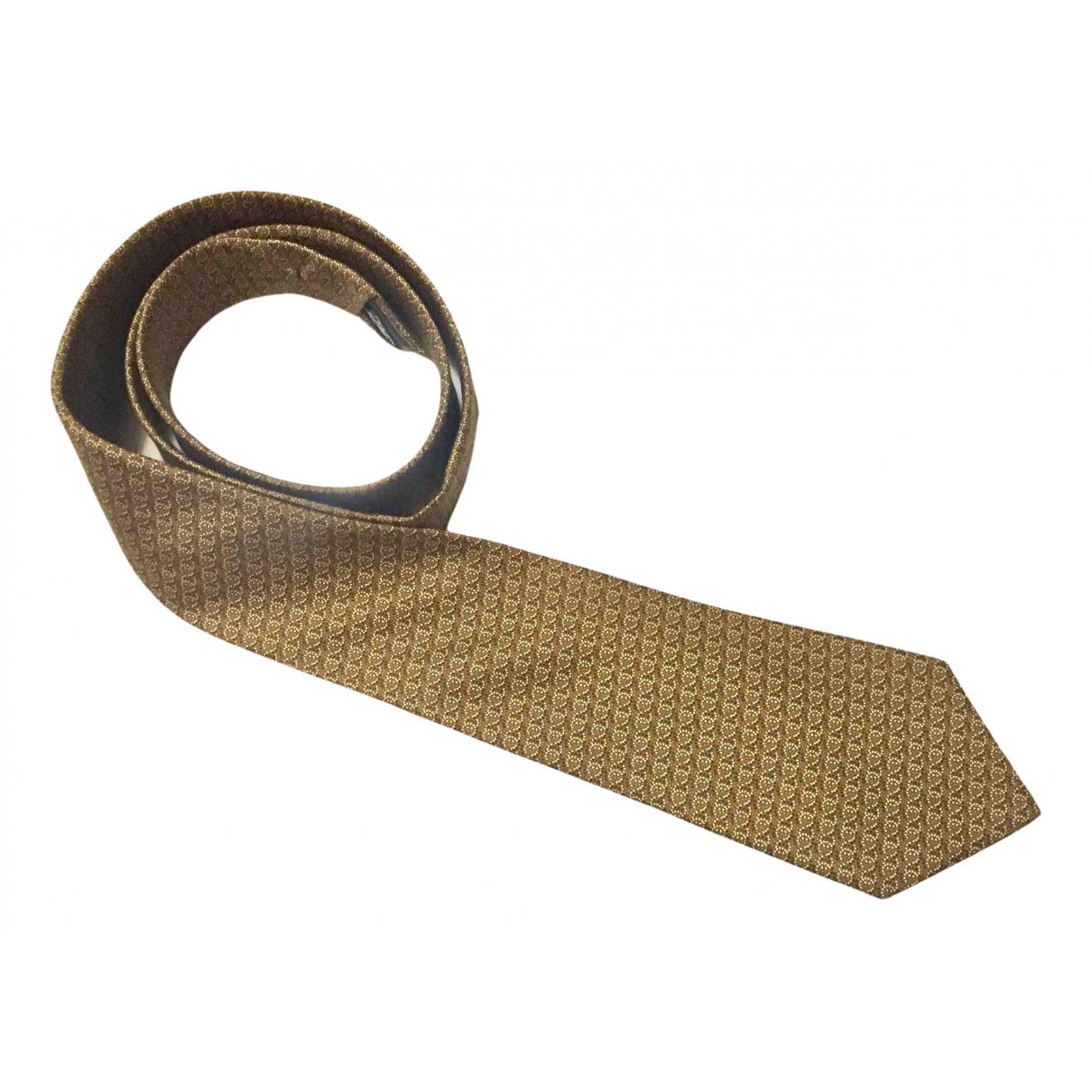 Chanel \N Krawatten in  Braun Seide