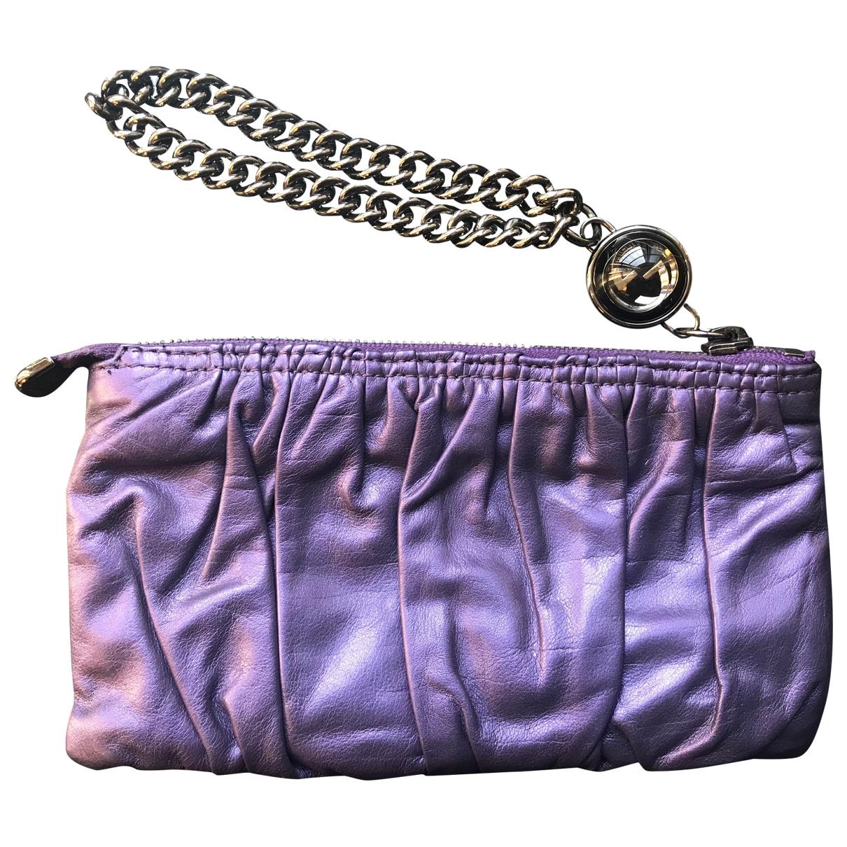 Gucci - Pochette   pour femme en cuir - violet