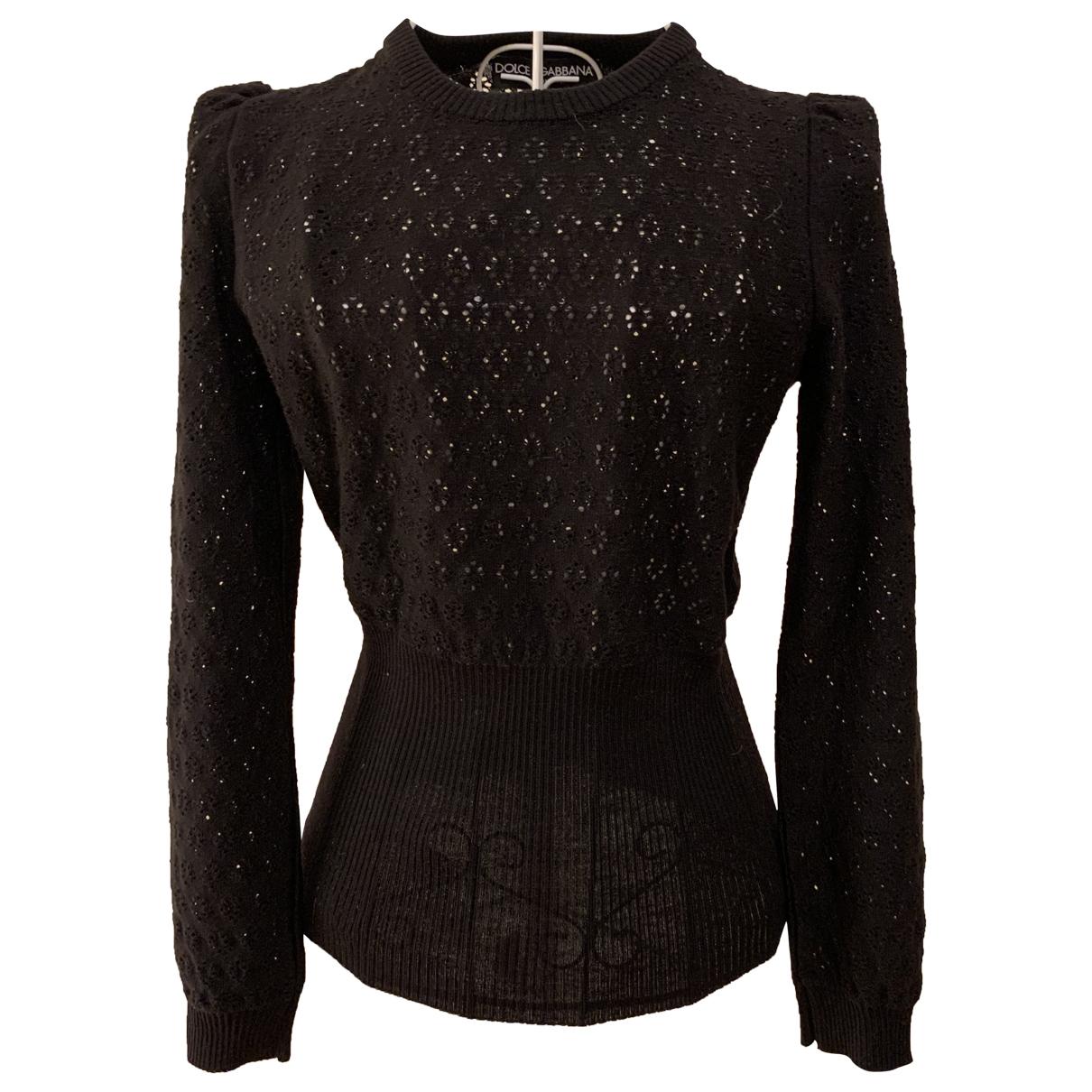 Dolce & Gabbana - Pull   pour femme en laine - noir