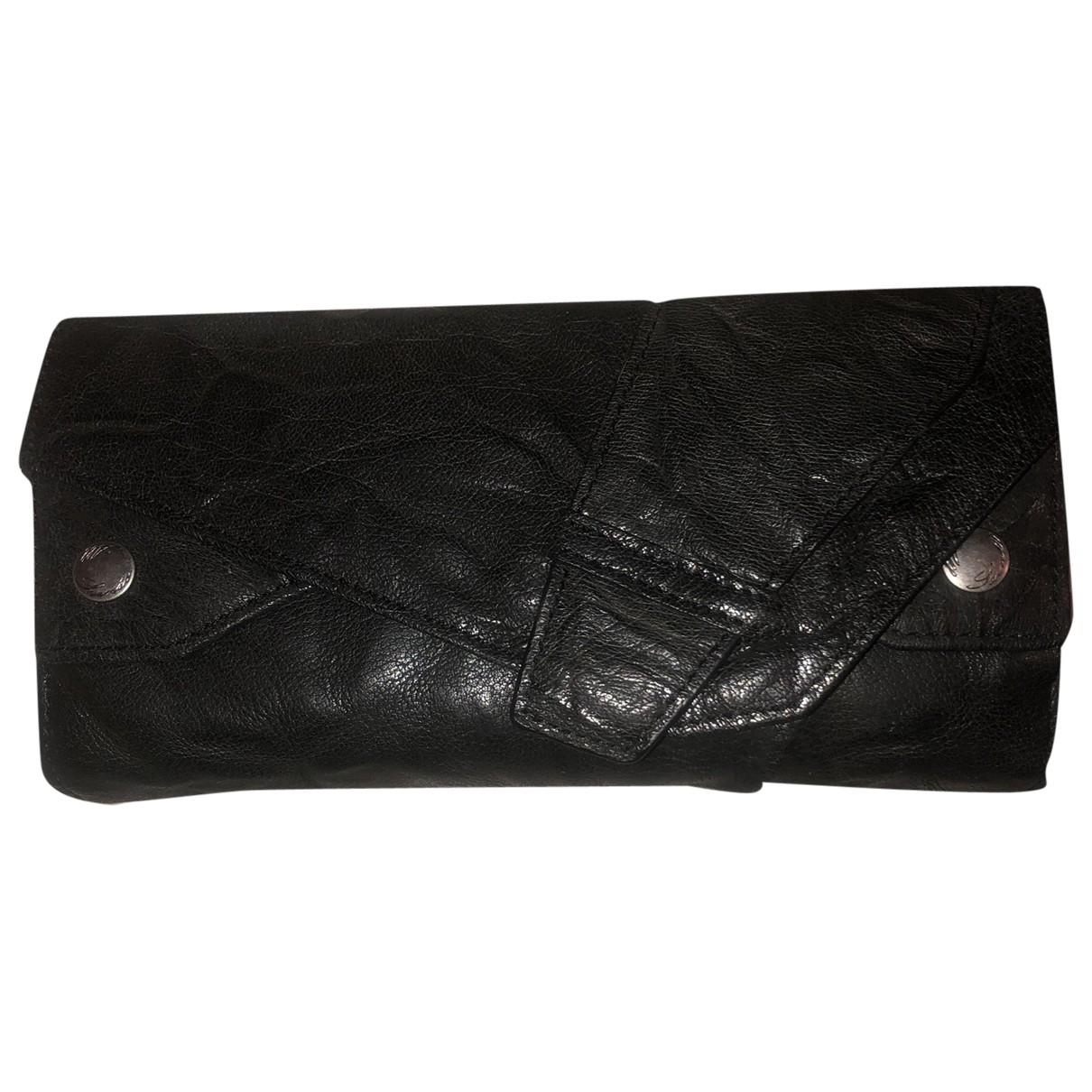 All Saints \N Black Leather wallet for Women \N