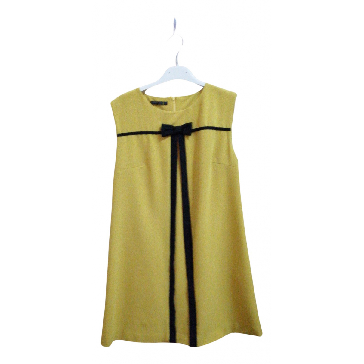 Non Signé / Unsigned N Yellow dress for Women M International