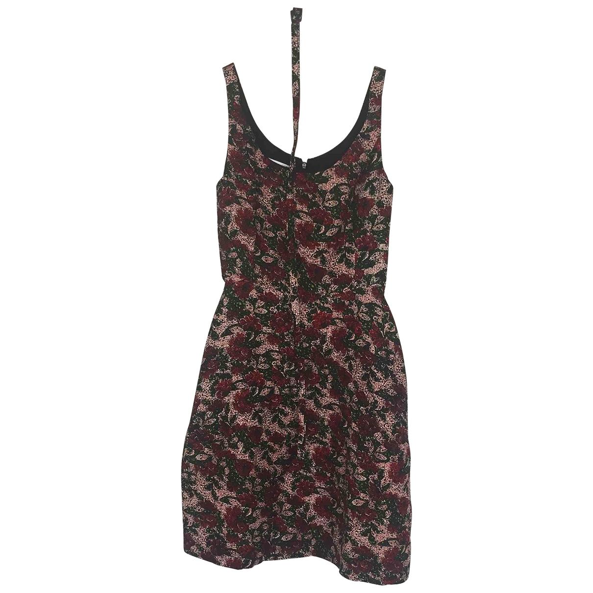Oscar De La Renta \N Burgundy Silk dress for Women 6 US