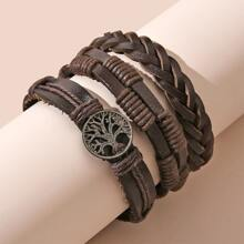 3pcs Tree Decor Braided Bracelet