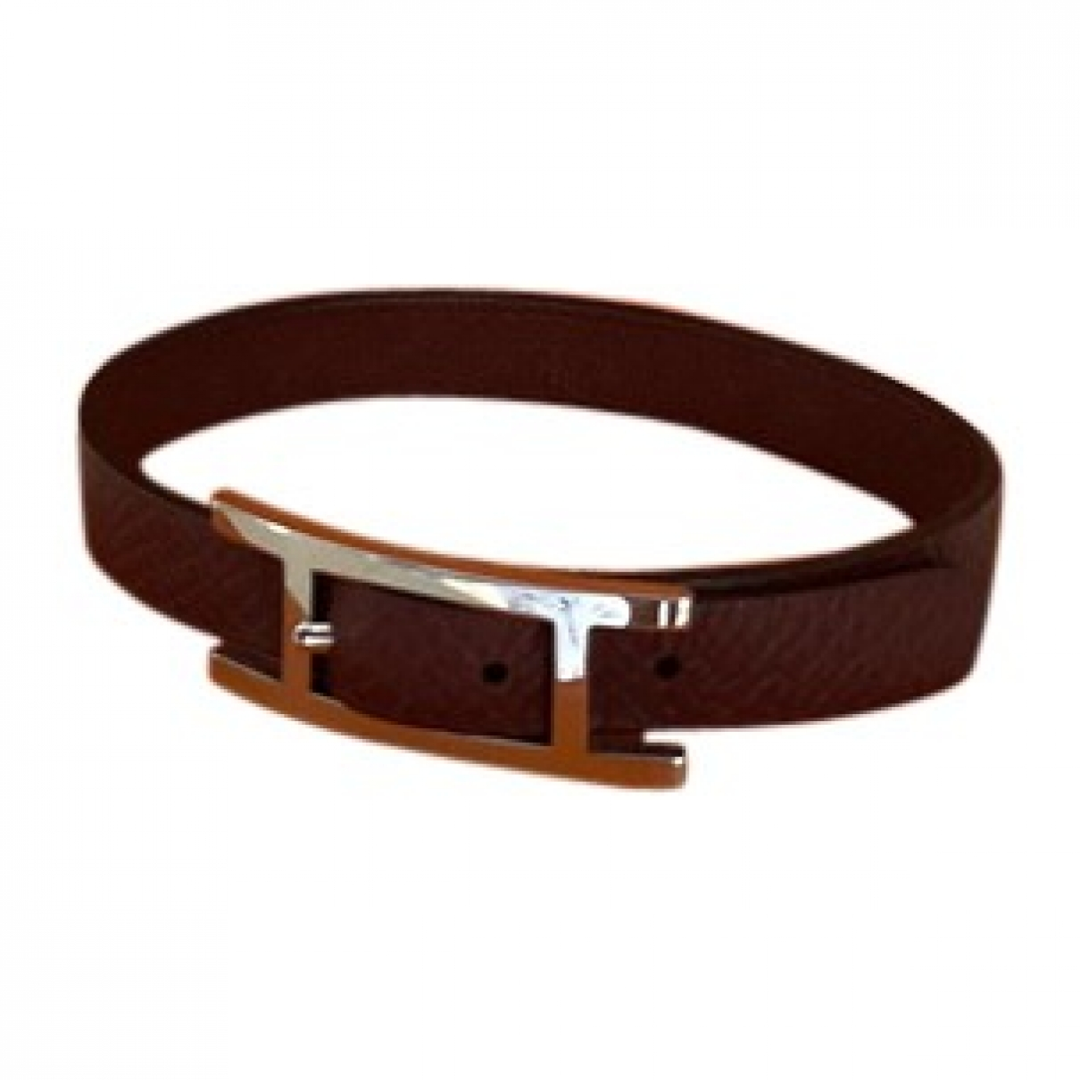 Hermès Behapi Burgundy Leather Jewellery for Men \N
