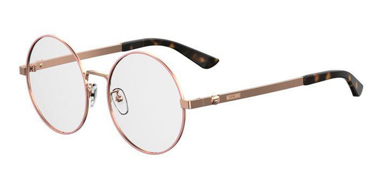 Moschino MOS538/F Asian Fit DDB Women's Glasses Gold Size 54 - Free Lenses - HSA/FSA Insurance - Blue Light Block Available