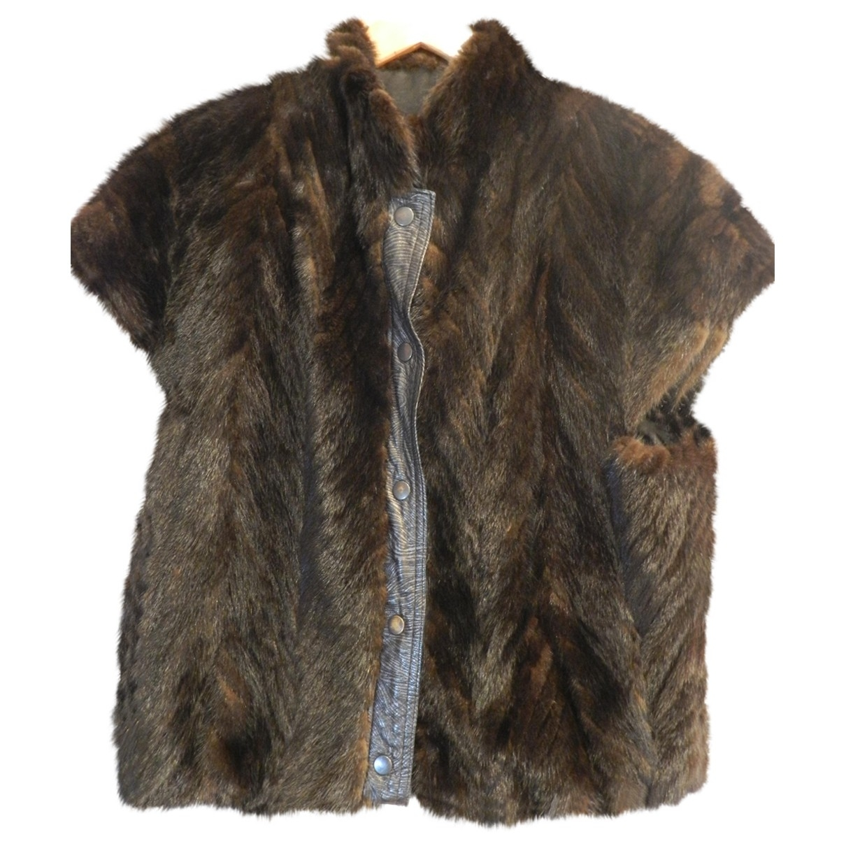 Non Signé / Unsigned Oversize Brown Mink coat for Women 44 FR