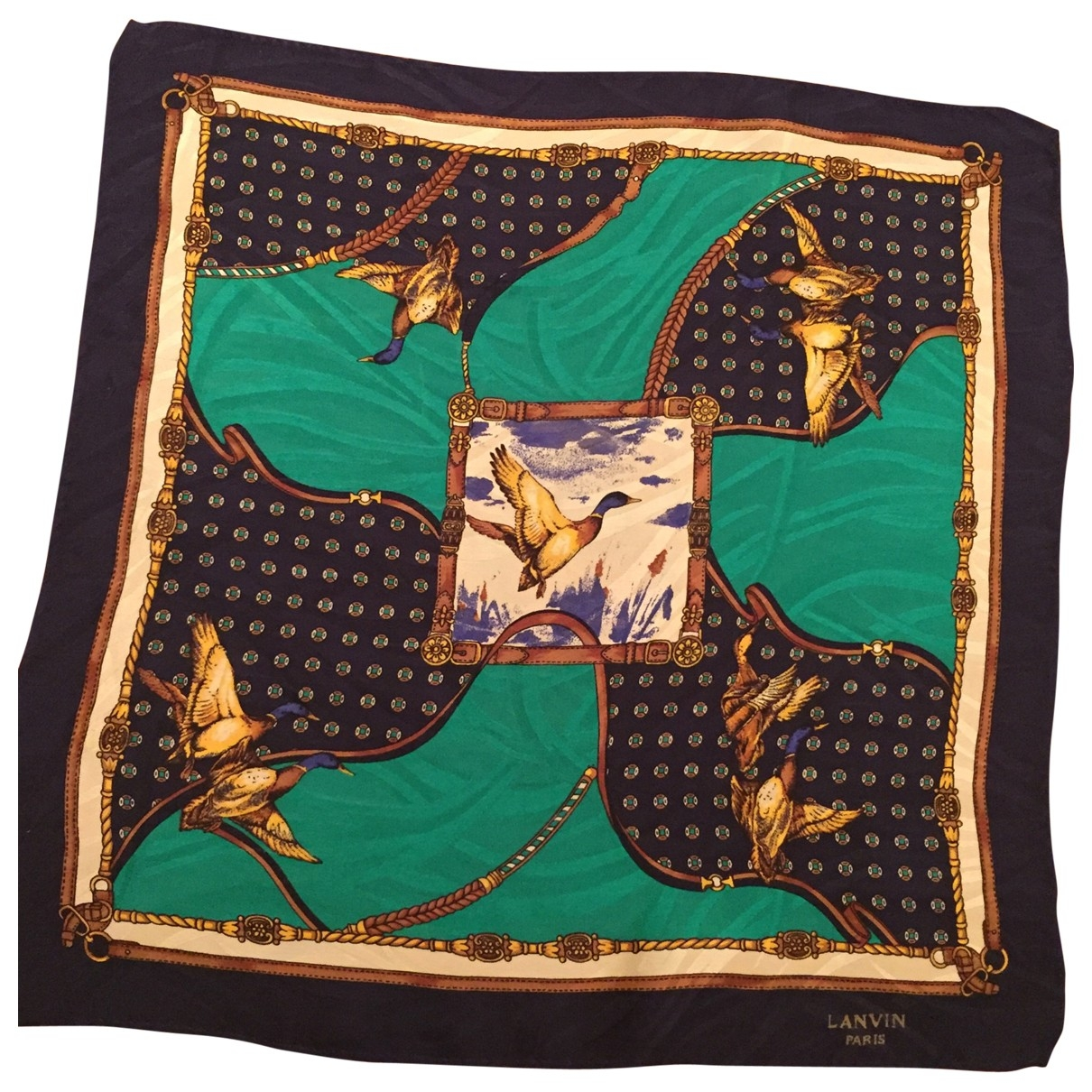 Lanvin \N Multicolour Silk Silk handkerchief for Women \N