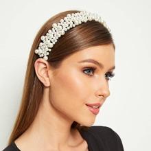 Diadema con diseño de perla artificial