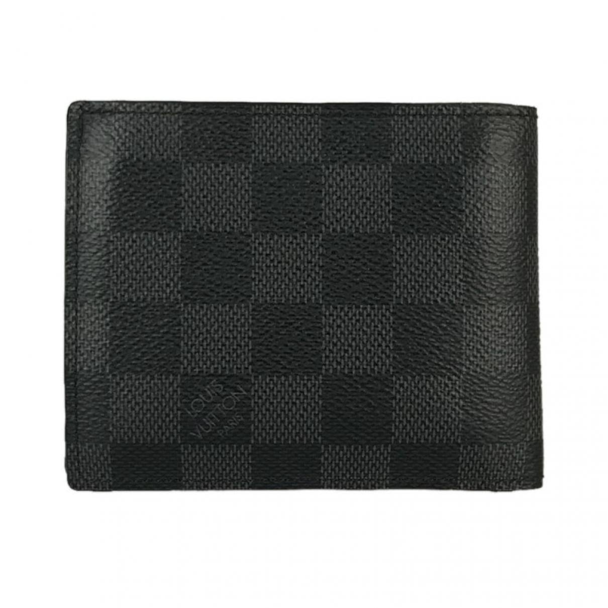 Louis Vuitton - Petite maroquinerie Marco pour homme en toile - noir