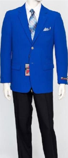 Pacelli Mens Classic Royal Blue Blazer Jacket