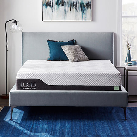 Dream Collection by LUCID 12 Inch Gel and Aloe Hybrid Mattress in a Box, One Size , White