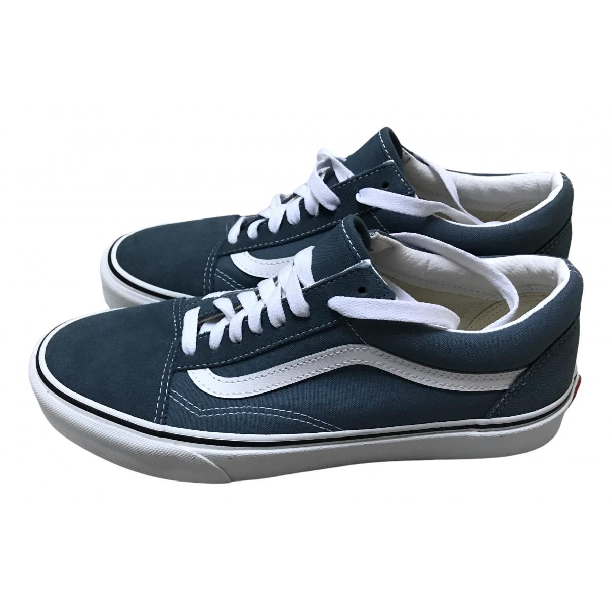 Vans \N Sneakers in  Blau Veloursleder