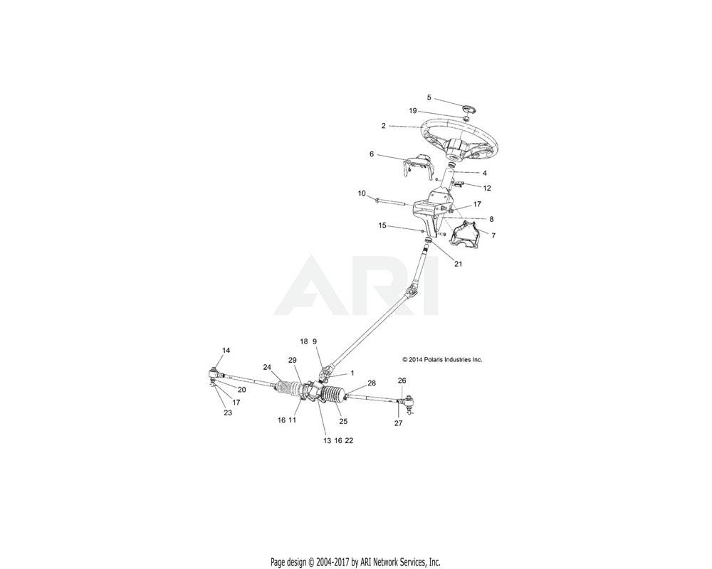 Polaris OEM 1824521 ASM., GEARBOX, STEERING | [INCL. 24-29]