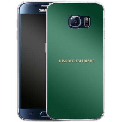 Samsung Galaxy S6 Silikon Handyhuelle - Kiss Me Im Irish von caseable Designs