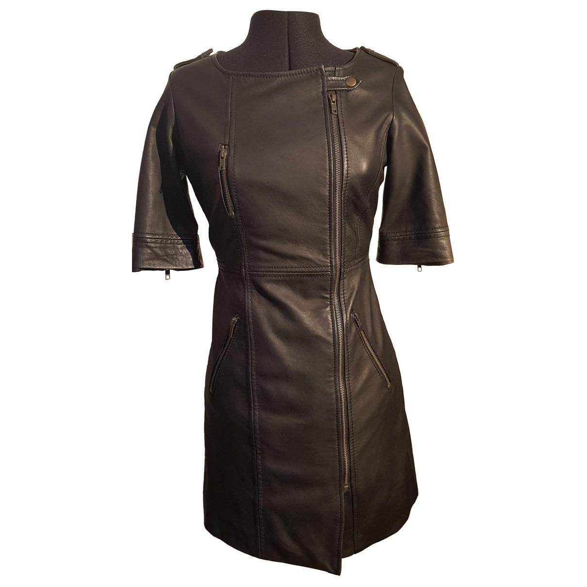 Supertrash \N Black Leather dress for Women S International