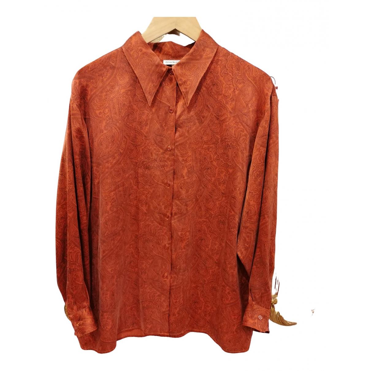 Cacharel - Top   pour femme en soie - orange
