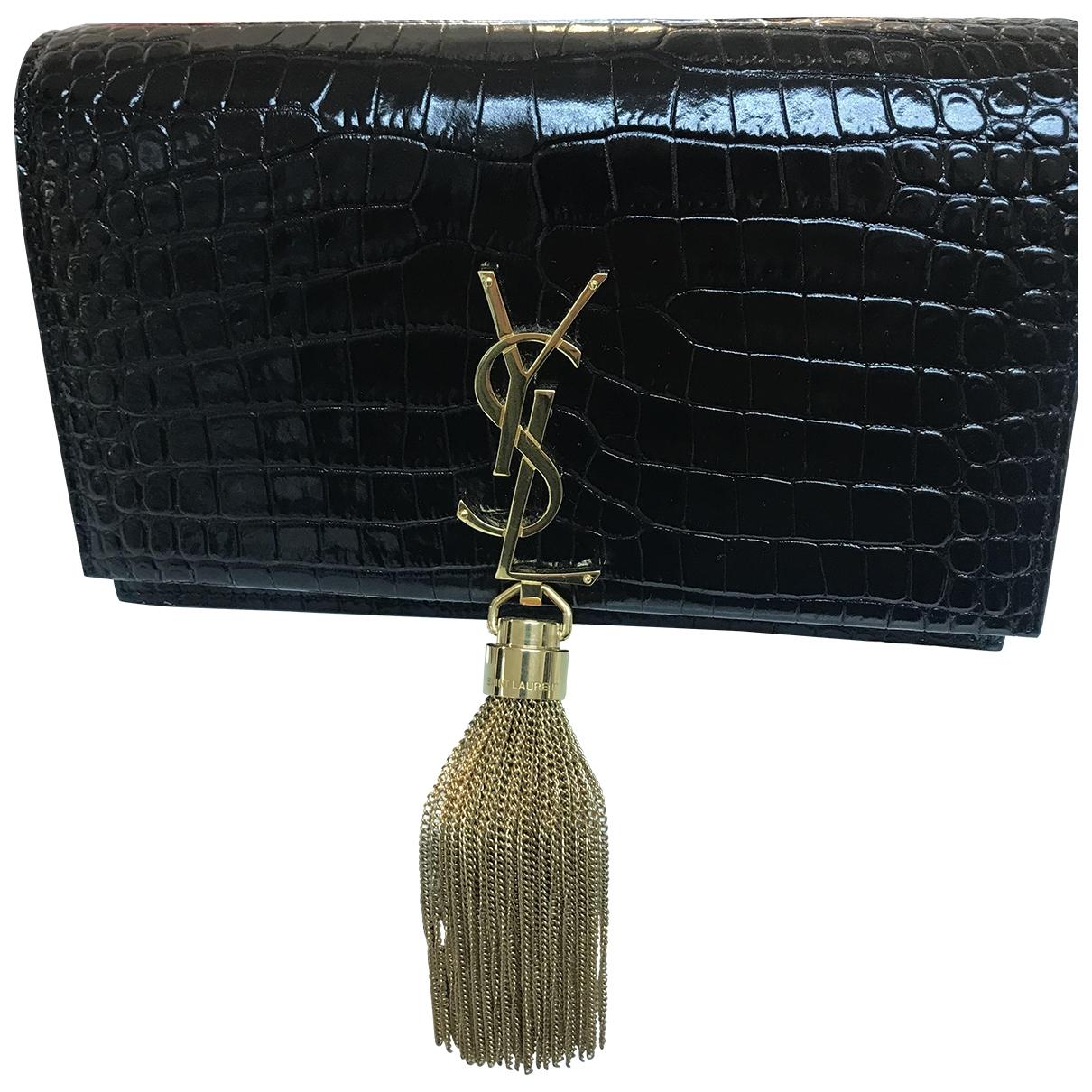 Yves Saint Laurent Belle de Jour Black Exotic leathers Clutch bag for Women \N
