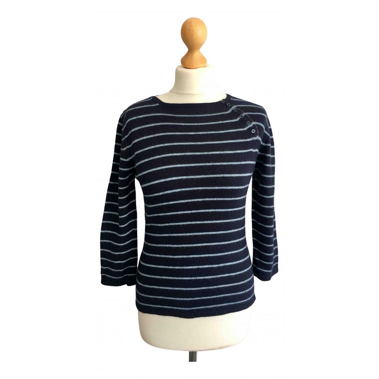 Lk Bennett - Pull   pour femme en laine - bleu