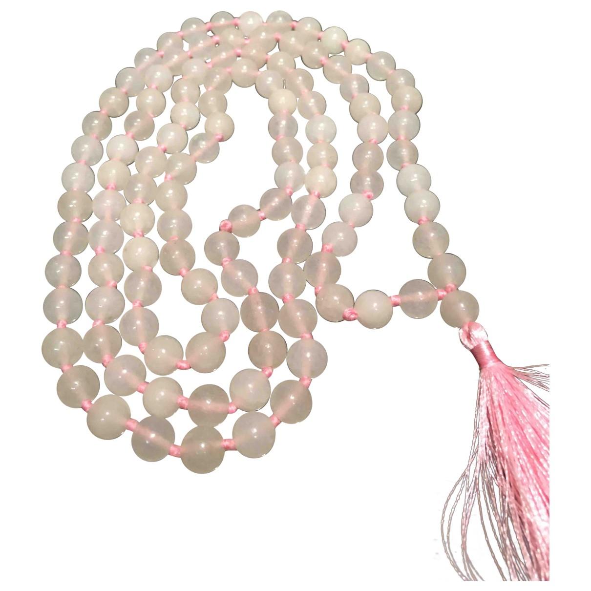 - Sautoir Motifs Religieux pour femme en perles - rose