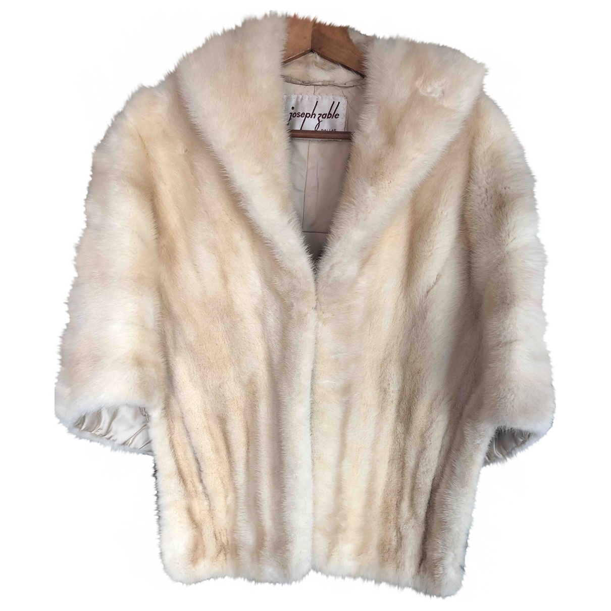 Non Signé / Unsigned \N Beige Mink jacket for Women One Size International