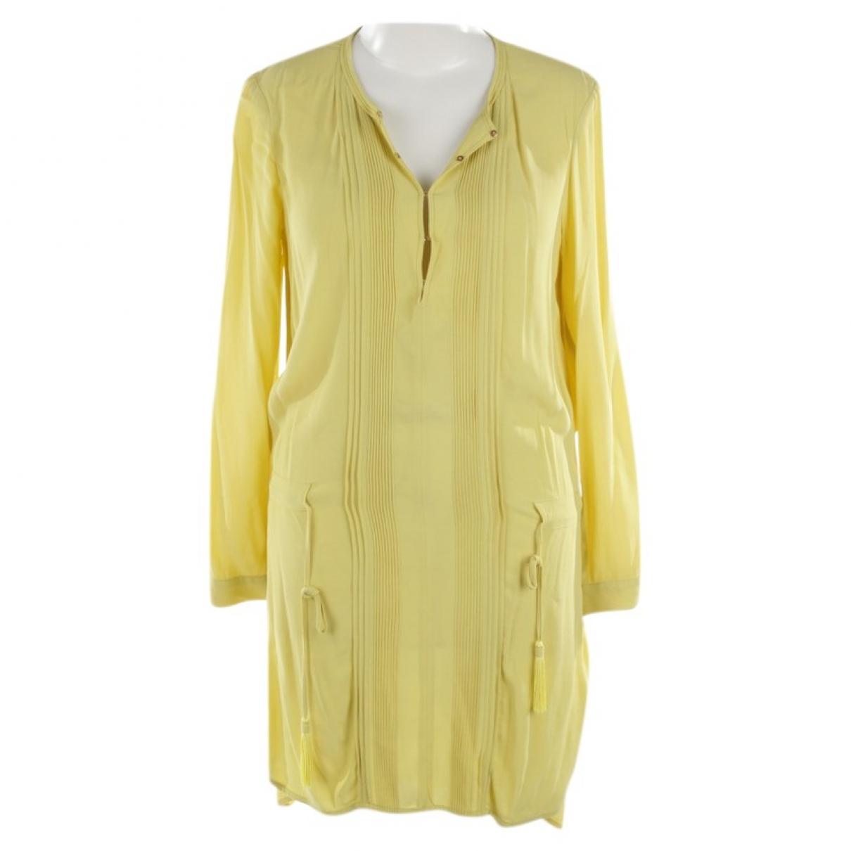 Diane Von Furstenberg \N Kleid in  Gelb Viskose