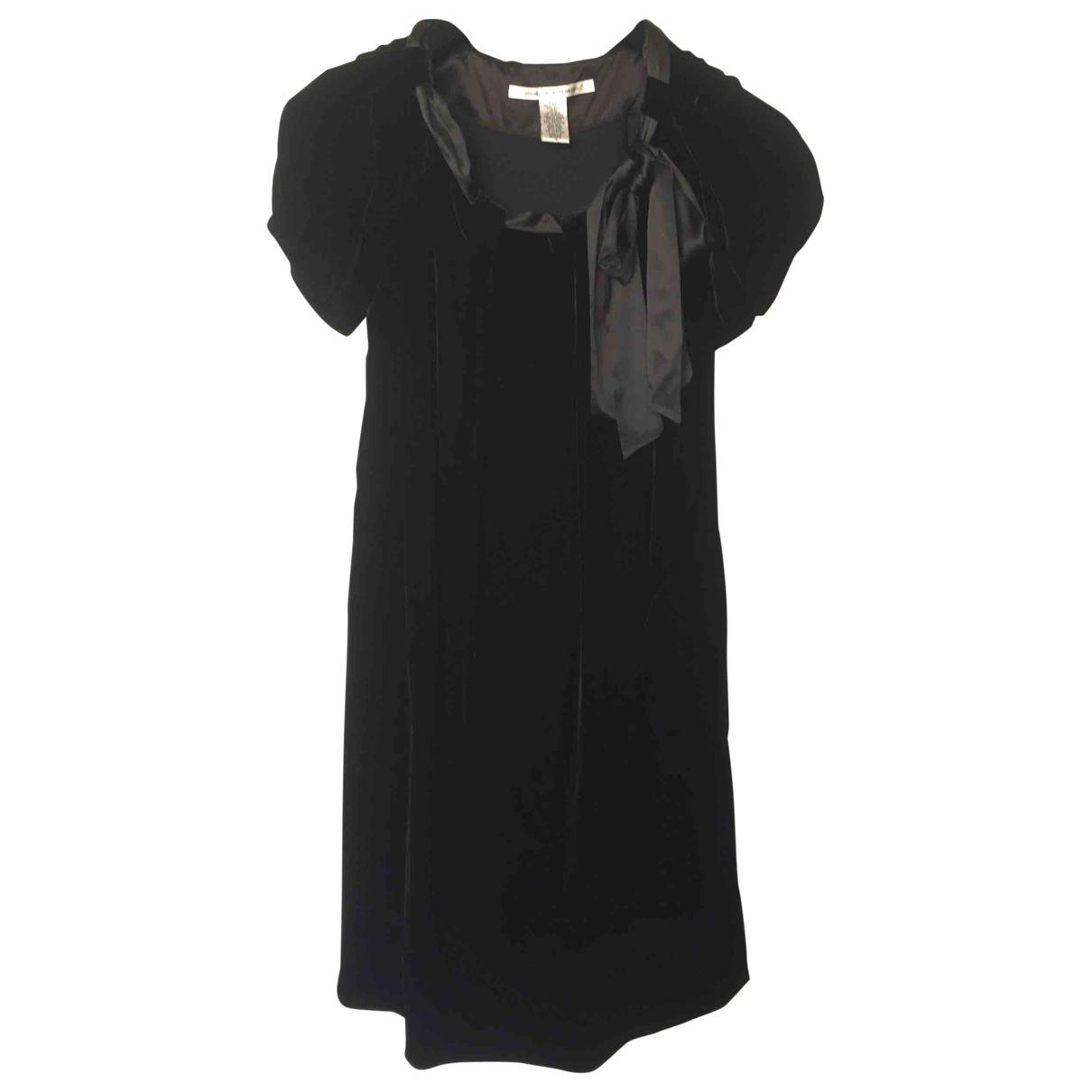 Diane Von Furstenberg - Robe   pour femme en velours - noir
