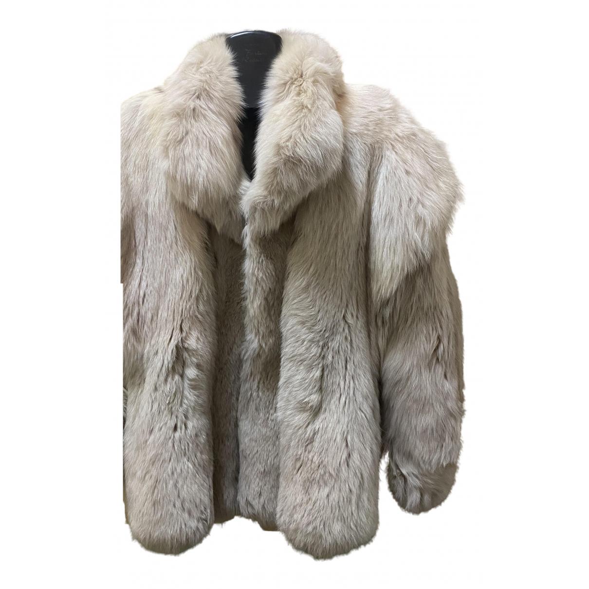 - Manteau   pour femme en renard - blanc