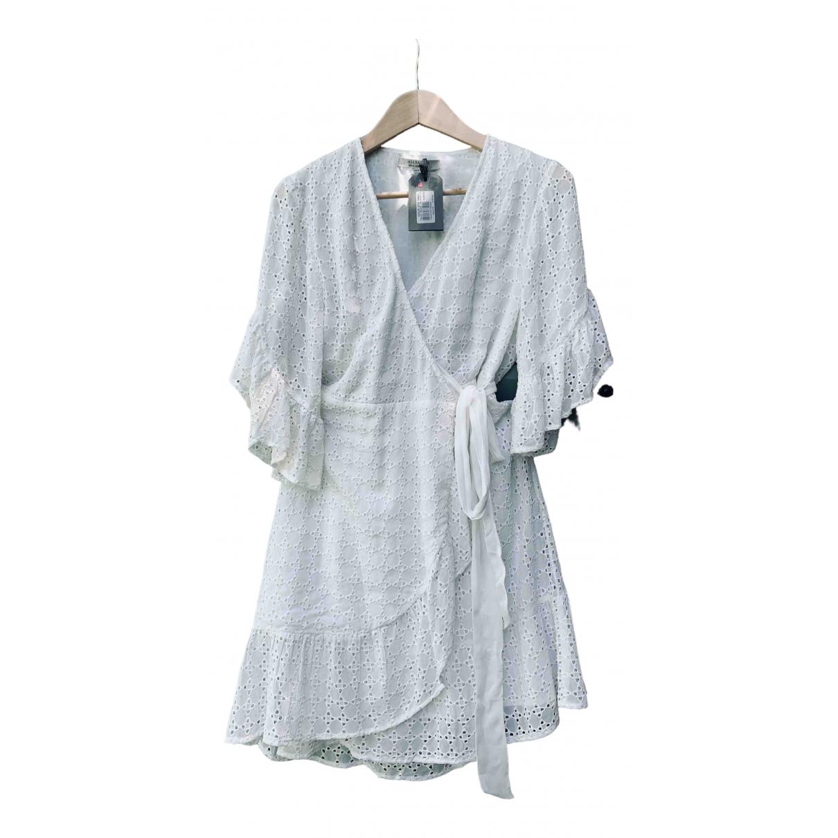 All Saints \N Kleid in  Weiss Baumwolle