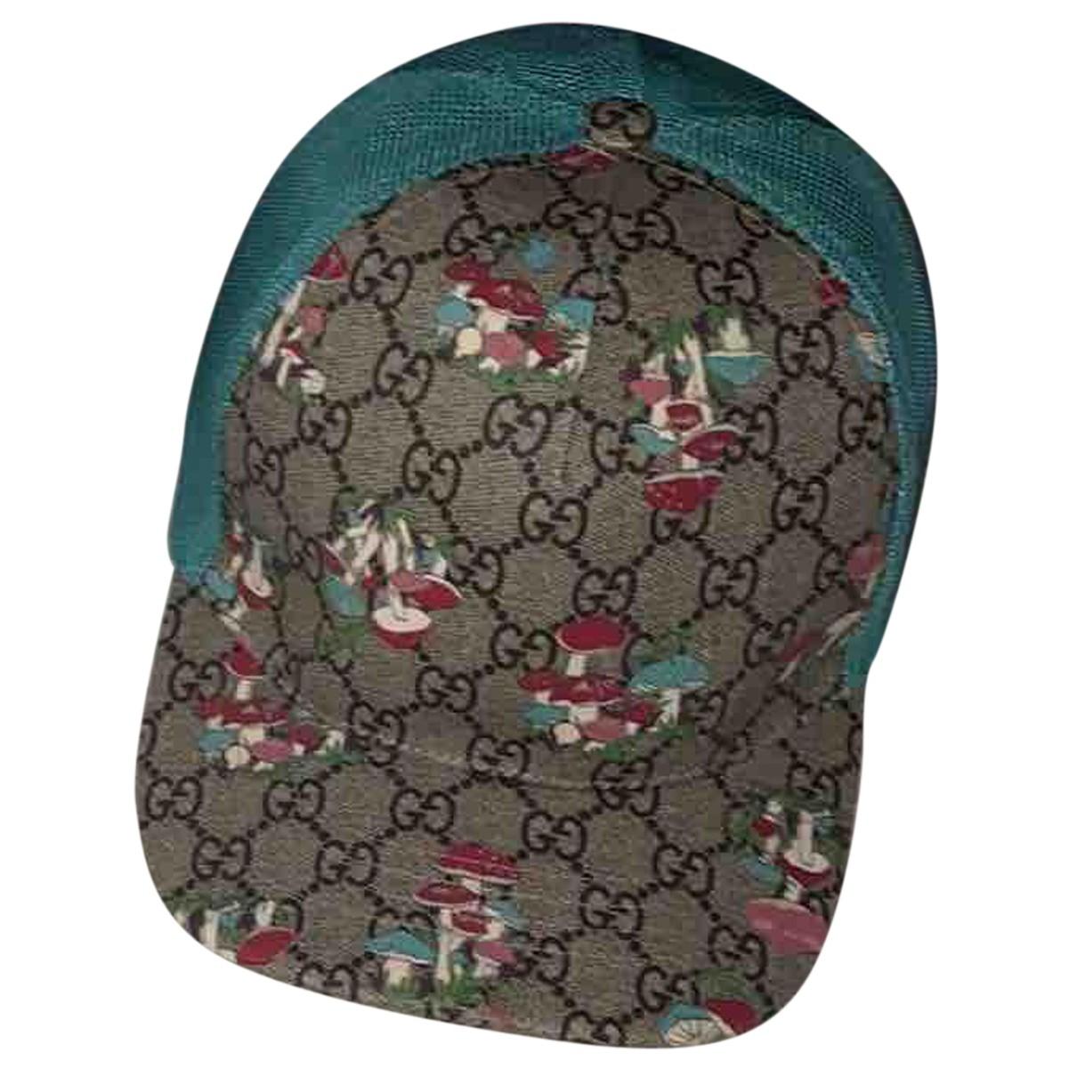Gucci N Beige Cloth hat & pull on hat for Men 56 cm
