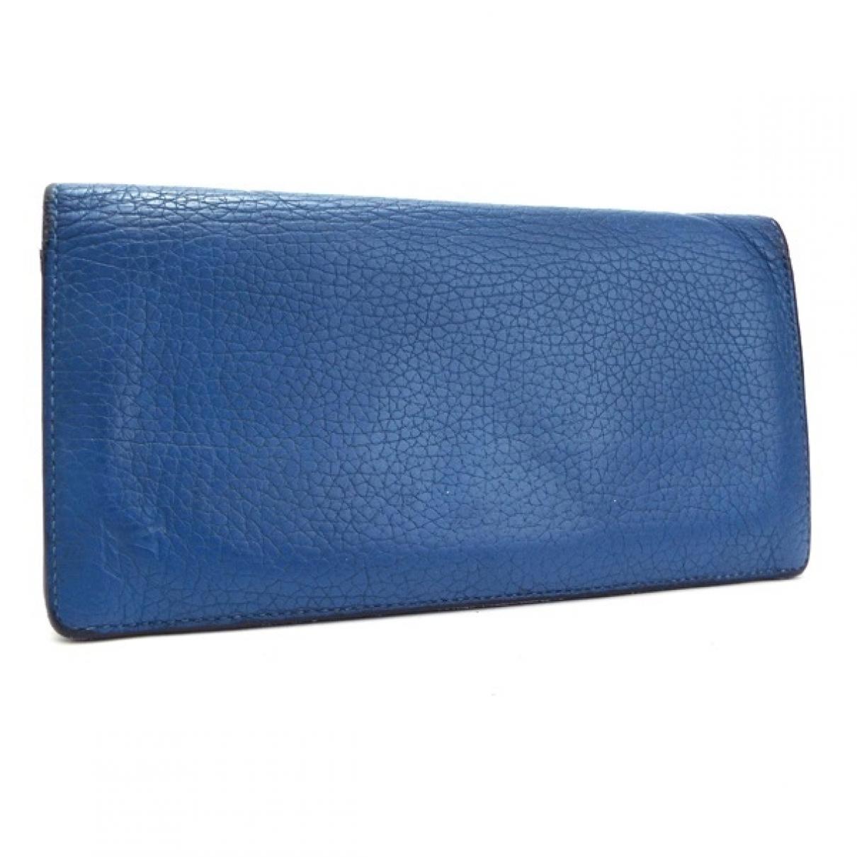 Louis Vuitton Brazza Kleinlederwaren in  Blau Leder