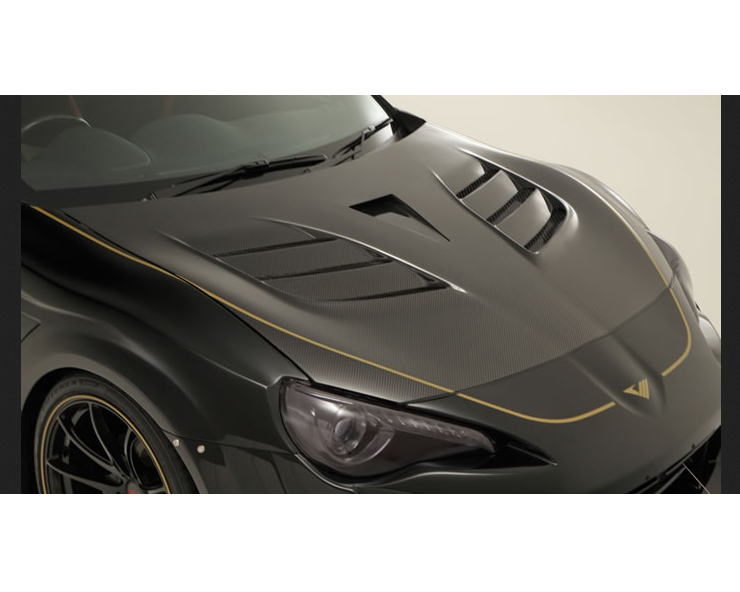 Varis VBTO-131 Carbon Cooling Bonnet System 2 with Carbon Naca Duct Toyota GT-86 ZN6 13-15