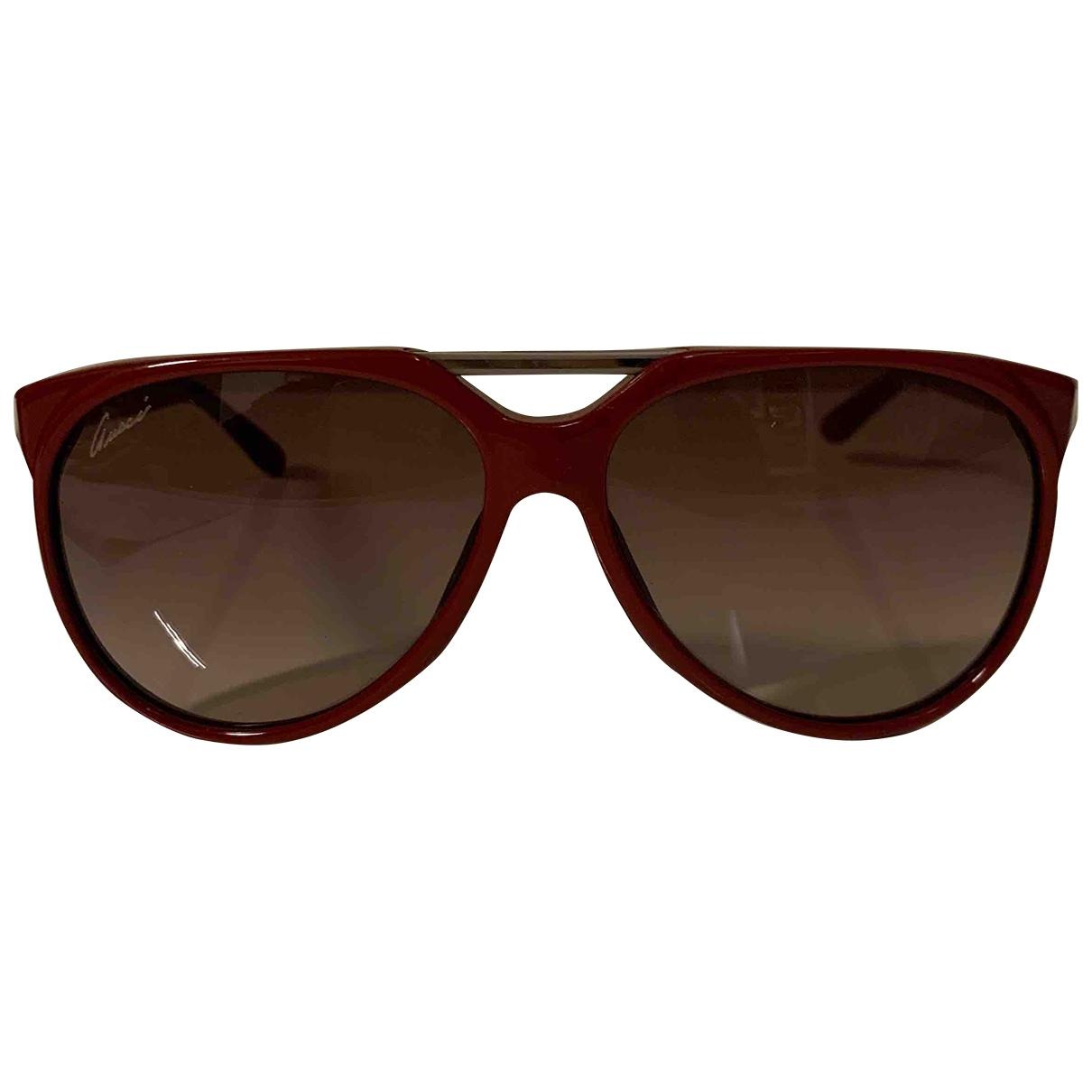 Gucci - Lunettes   pour femme - rouge