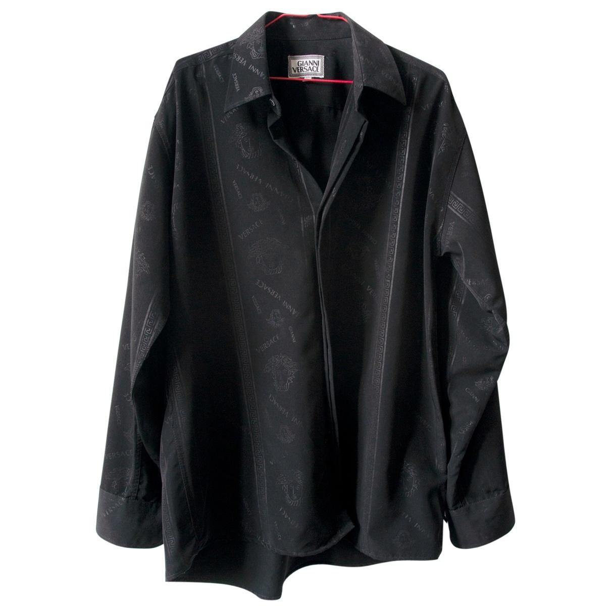 Gianni Versace \N Hemden in  Schwarz Viskose