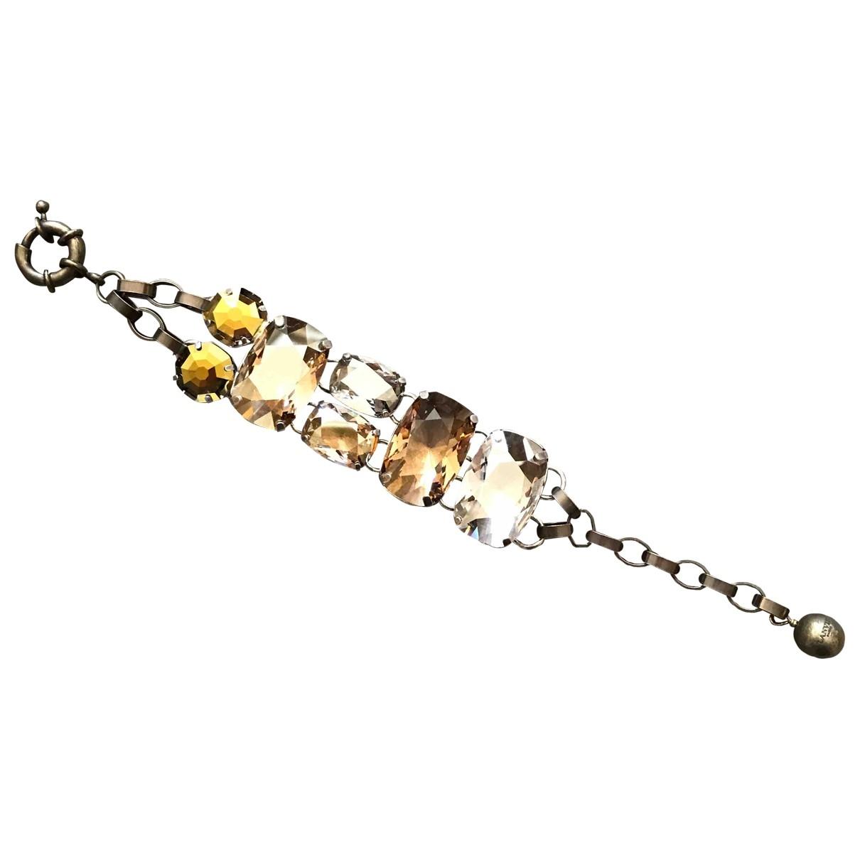 Lanvin - Bracelet   pour femme en cristal - camel