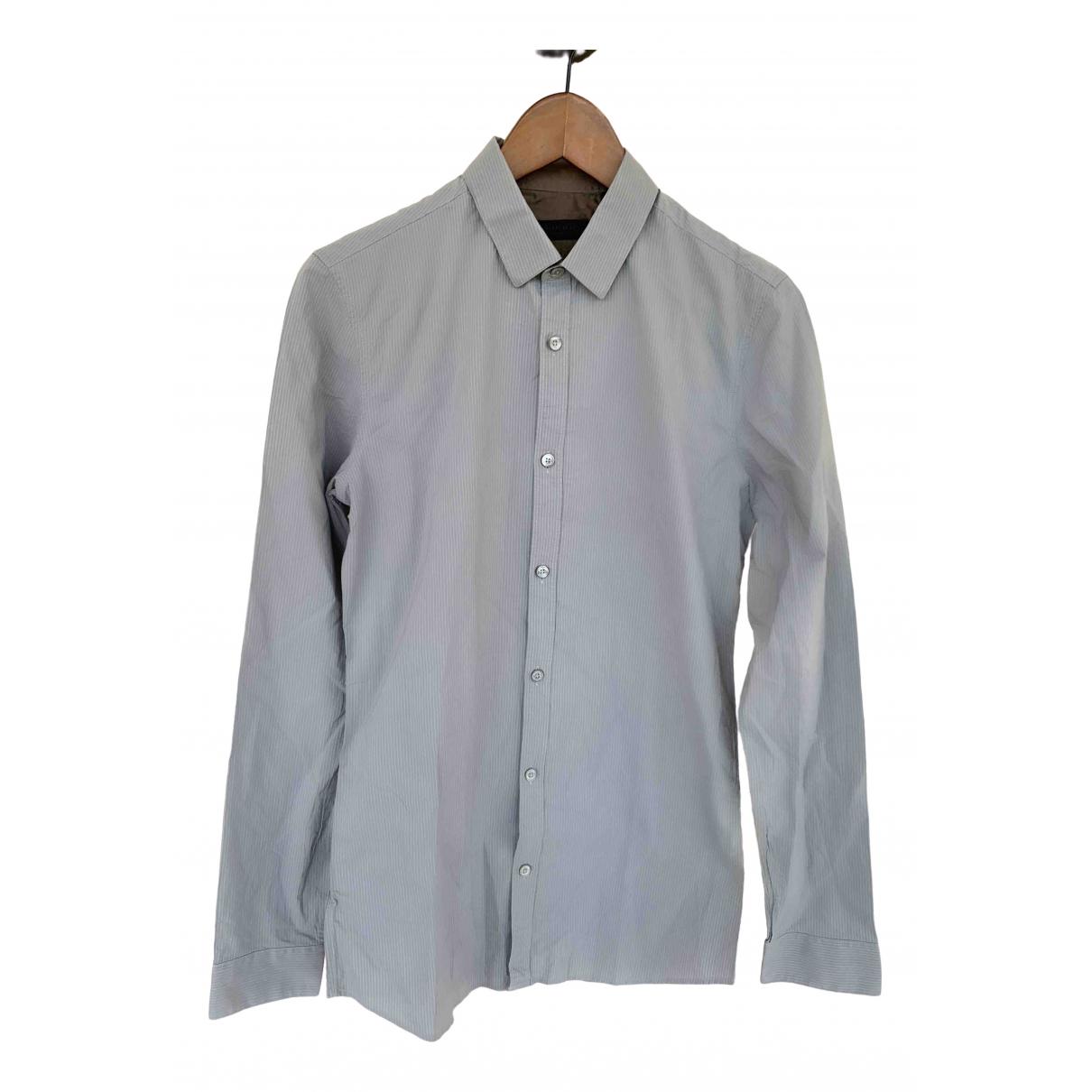 Burberry \N Grey Cotton Shirts for Men 39 EU (tour de cou / collar)