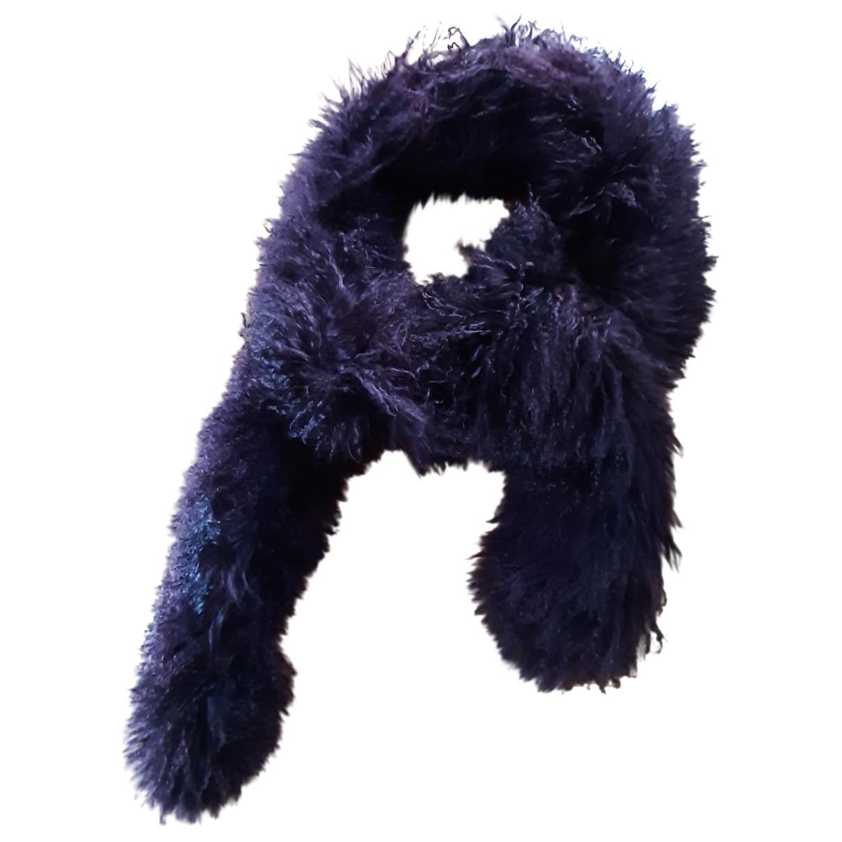 - Foulard   pour femme en agneau de mongolie - violet
