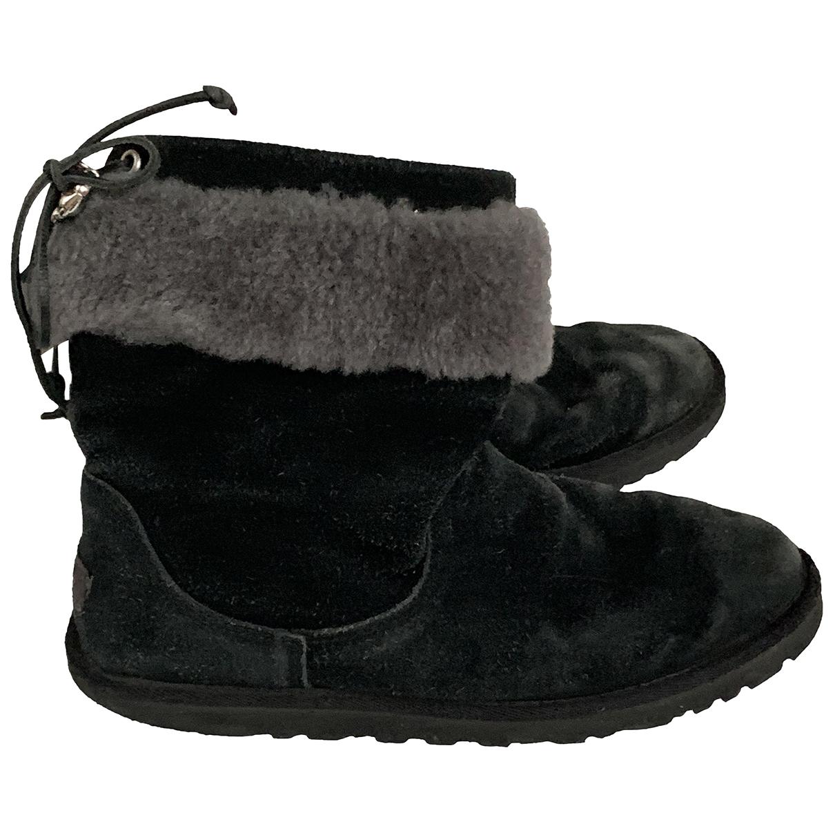 Ugg \N Black Suede Boots for Kids 34 EU