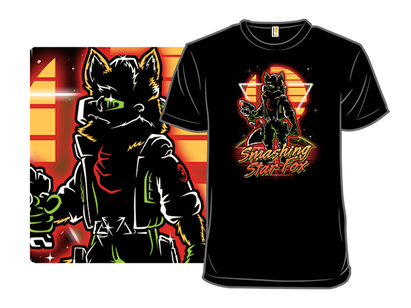 Retro Smashing Fox T Shirt