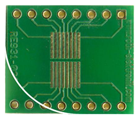 Roth Elektronik Surface Mount (SMT) Board SSOP Epoxy Glass Double-Sided 22 x 18.4mm FR4