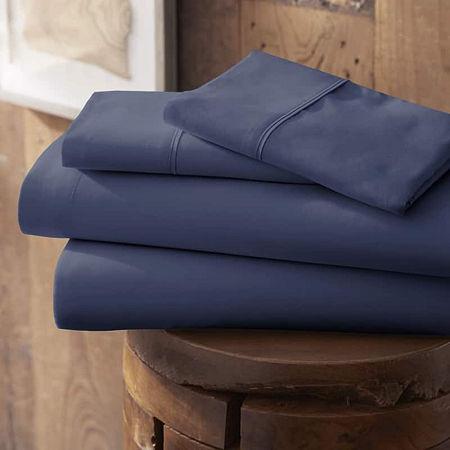 Casual Comfort Premium Ultra Soft Microfiber Wrinkle Free Sheet Set, One Size , Blue