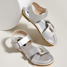 Toddler Girls Metallic Ankle Strap Sandals