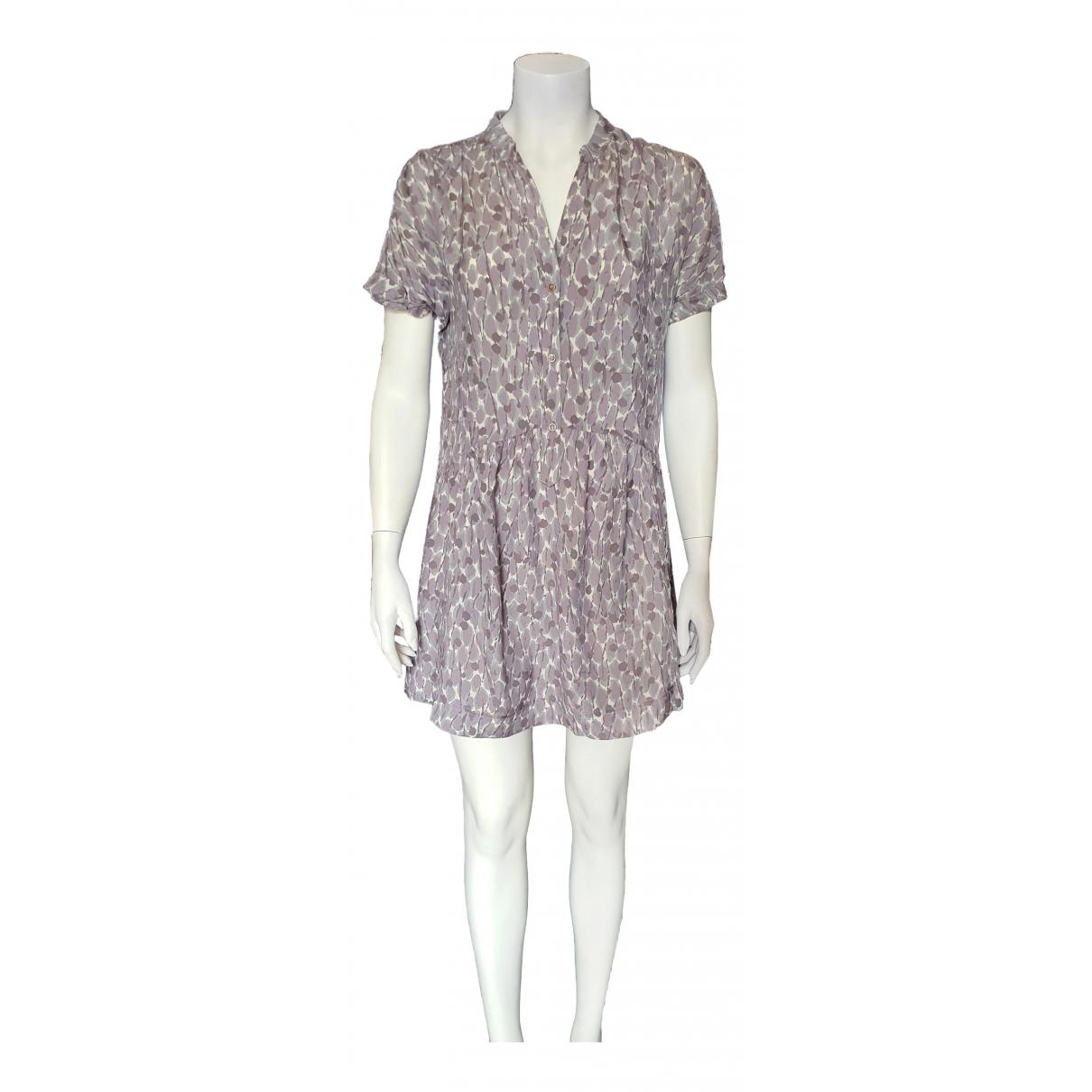 Comptoir Des Cotonniers N Grey Silk dress for Women 38 FR