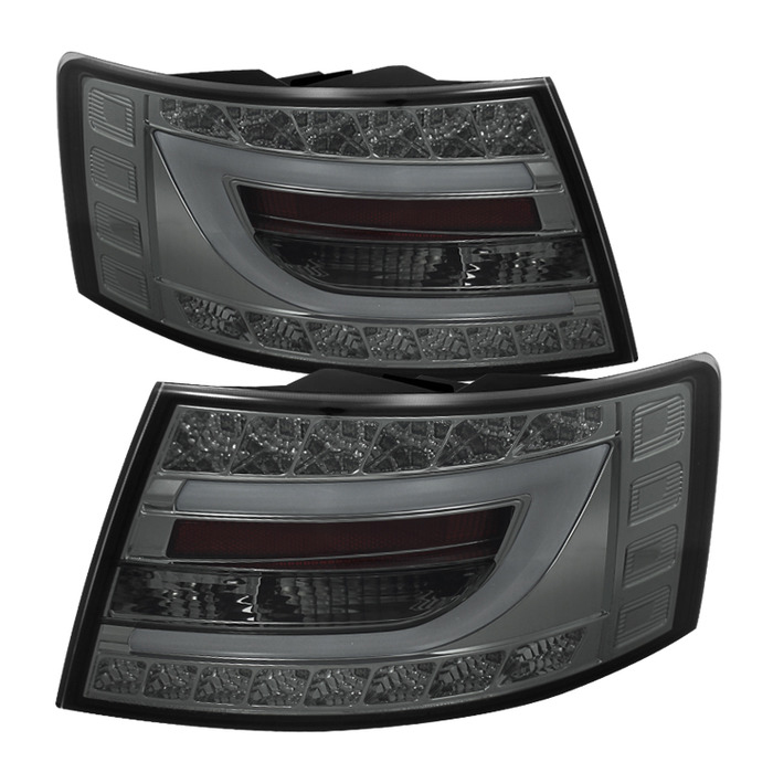 Spyder Auto ALT-YD-AA605-LBLED-SM Smoke Black LED Taillights with Light Bar Audi A6 4Dr Non-Quattro 05-08